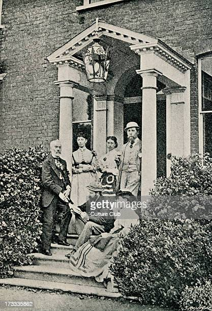 Charles Dicken 's family and friends on the porch of Gad's Hill where Dickens lived towards the end of his live Gathered are back left Kate Dickens...