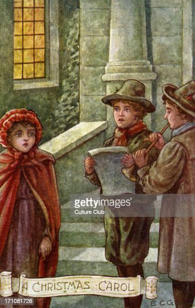 Charles Dickens' 'A Christmas Carol' Children sing and play music in the snow CD English novelist 7 February 1812 – 9 June 1870