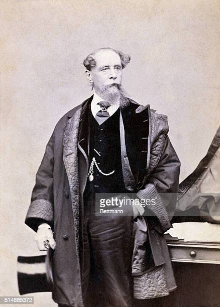 Charles Dickens during the author's visit to America 186768 Photgraph taken by J Gurney