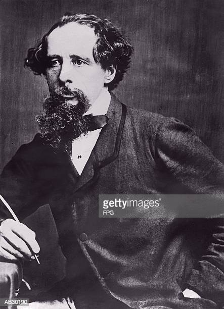 charles (john huffam) dickens (1812-70), english author (b&w) - charles dickens stock pictures, royalty-free photos & images