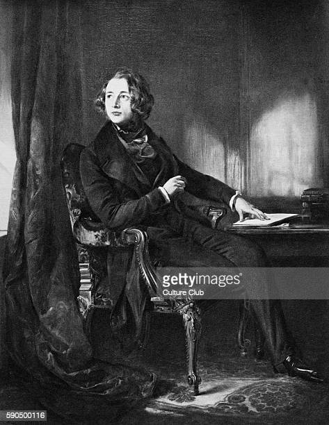 Charles Dickens portrait English novelist 7 February 1812 Ð 9 June 1870 After the portrait by Daniel Maclise