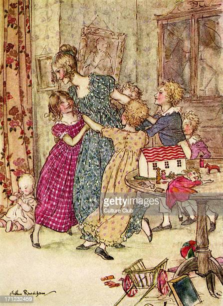 Charles Dickens 's 'A Christmas Carol' 'A flushed and boisterous group' Illustration by Arthur Rackham 18671939 CD English novelist 7 February 1812 –...