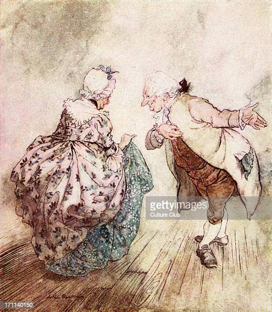 Charles Dickens 's 'A Christmas Carol' 'Then old Fezziwig stood out to dance with Mrs Fezziwig' Illustration by Arthur Rackham 18671939 CD English...