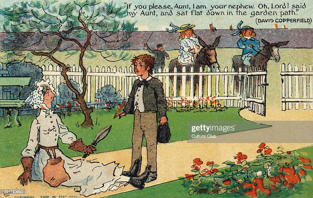 charles dickens s novel david copperfield pictures getty images charles dickens s novel david copperfield postcard drawing of scene caption