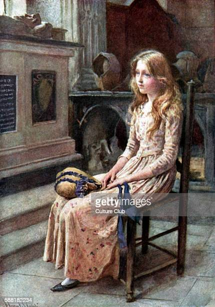 Charles Dickens s The Old Curiosity Shop Little Nell sitting alone in the old church English novelist 7 February 1812 9 June 1870 Illustration by...