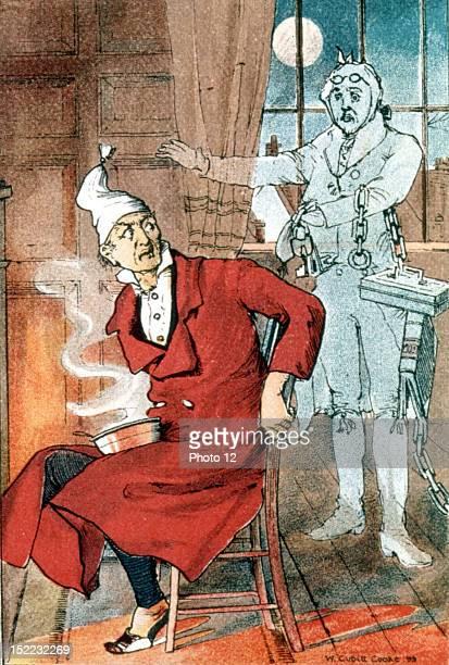 Charles Dickens Scrooge sees Marley's ghost A Christmas Carol 1899