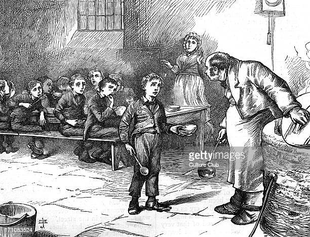 Charles Dickens's ' The Adventures of Oliver Twist ' first published 1838 Description of scene Oliver asks the master of the workhouse for more food...