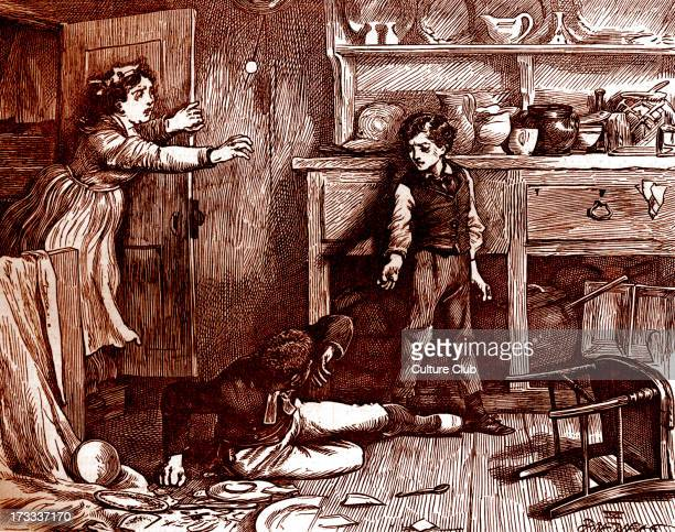 Charles Dickens's ' The Adventures of Oliver Twist ', first published 1838. Caption: ' Oliver rather astonishes Noah '. Description of scene: Oliver...