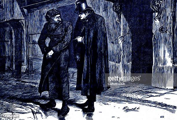Charles Dickens's ' The Adventures of Oliver Twist ' first published 1838 Caption ' 'Fagin' Whispered a voice close to his ear ' Description of scene...