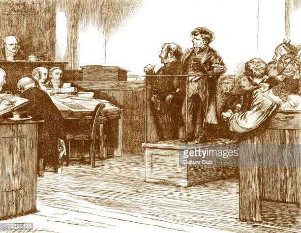 Charles Dickens's ' The Adventures of Oliver Twist ', first published 1838. Caption: ' 'What is this?' Inquired one of the magistrates.-'A...