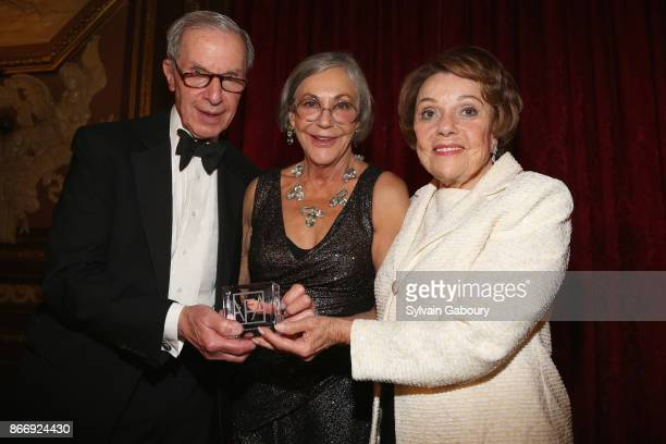 Charles Diker Alice Walton and Valerie Diker attend the American Federation of Arts 2017 Gala and Cultural Leadership Awards at The Metropolitan Club...