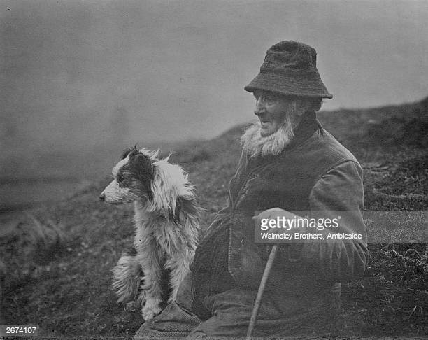 Charles Dixon a shepherd with his sheep dog in Westmorland