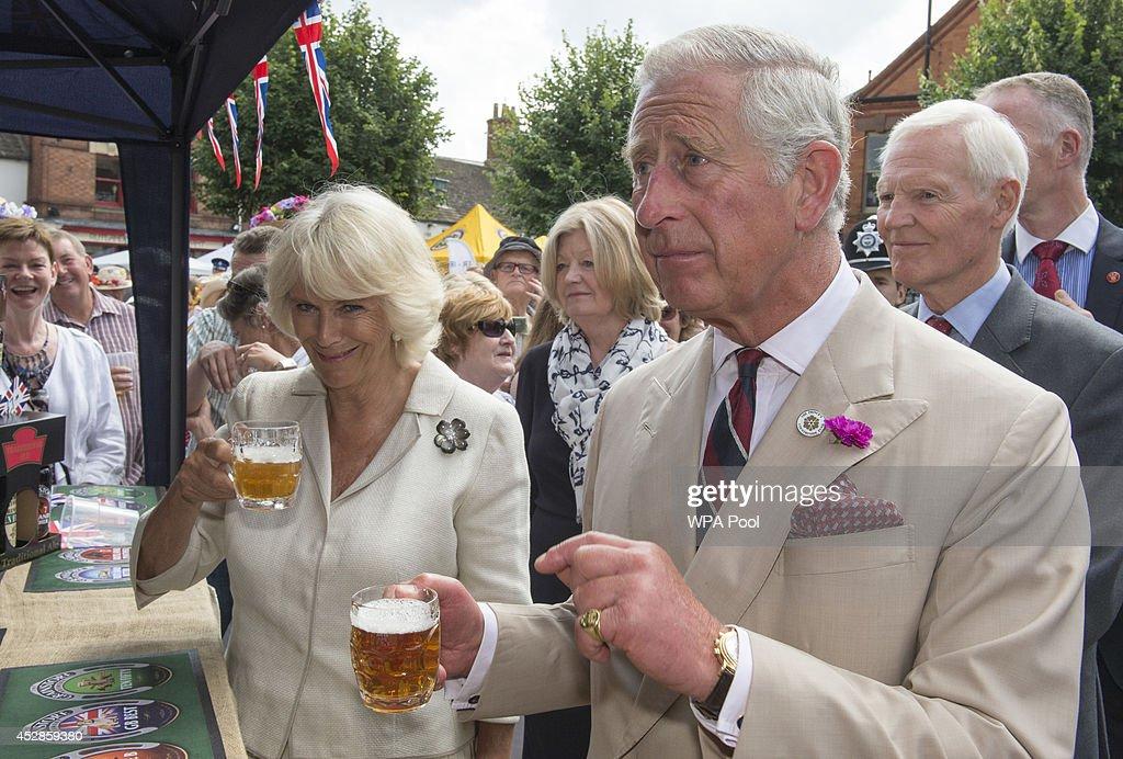 Charles & Camilla Visit Oakham : News Photo