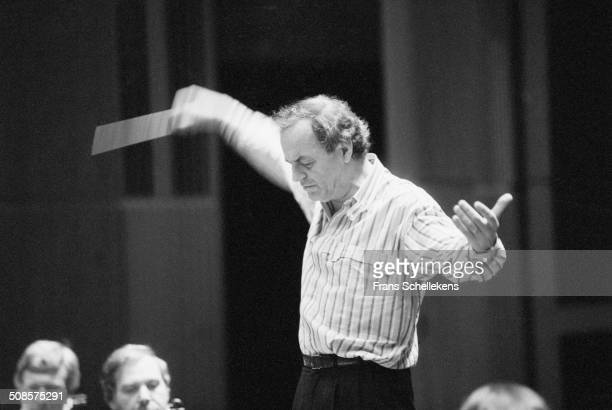 Charles Dutoit directs on 5th May 1991 in Montreal, Canada.