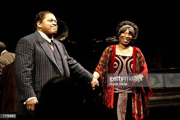 Charles Dutton and Whoopi Goldberg take their Opening Night Curtain Call for Ma Rainey's Black Bottom by August Wilson at the Royale Theatre on...