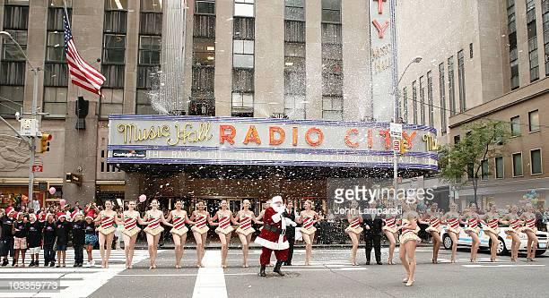 Charles Edward Hall, The Radio City Rockettes and James Covington perform during the 2010 Radio City Christmas Spectacular Kick Off at Radio City...