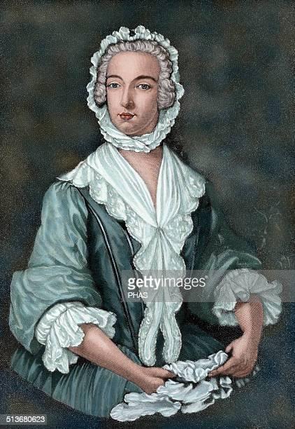 Charles Edward Stuart Scottish aristocrat Prince Charles Edward Stuart disguised as Betty Burke 1747 Engraving in The Iberian Illustration 1885...