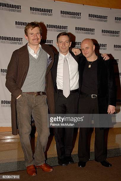 Charles Edwards Arnie Burton and Cliff Saunders attend THE 39 STEPS Opening Night at American Airlines Theater on January 15 2008 in New York City