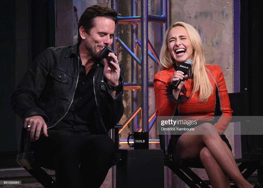 Charles Esten and Hayden Panettiere attend the Build Series 'Nashville' at AOL HQ on January 5, 2017 in New York City.