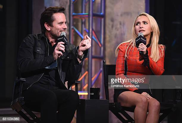 Charles Esten and Hayden Panettiere attend the Build Series 'Nashville' at AOL HQ on January 5 2017 in New York City