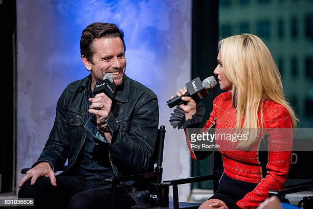 Charles Esten and Hayden Panettiere discuss 'Nashville' with the Build Series at AOL HQ on January 5 2017 in New York City