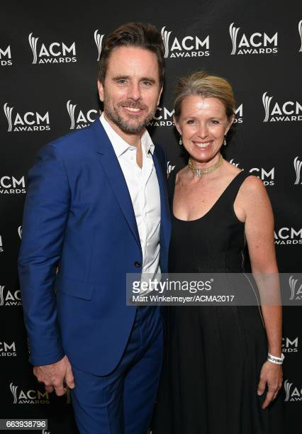 Charles Esten and Patty Hanson at the ACM Awards Official After Party at the Park Theater on April 2 2017 in Las Vegas Nevada