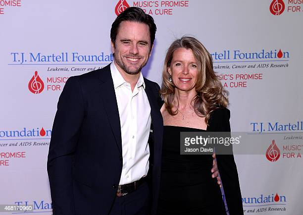 Charles Esten and Patty Hanson attend the TJ Martell Foundation's 7th Annual Nashville Honors Gala at Omni Hotel Downtown on March 30 2015 in...
