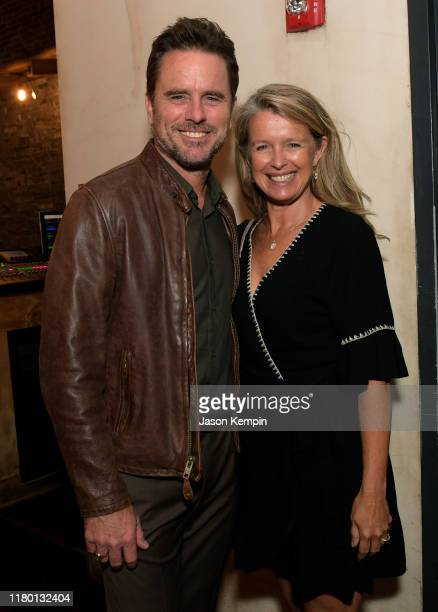 Charles Esten and Patty Hanson Puskar attend a special screening and reception for Patsy Loretta presented by Lifetime on October 09 2019 in Franklin...