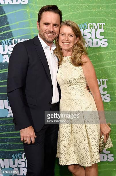 Charles Esten and Patty Hanson Puskar attend the 2015 CMT Music awards at the Bridgestone Arena on June 10 2015 in Nashville Tennessee