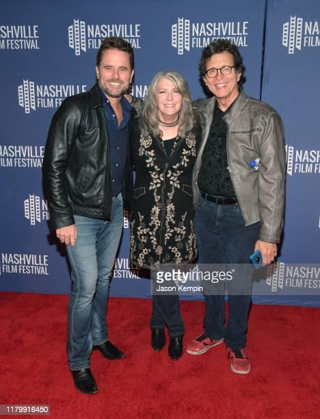 Charles Esten Kathy Mattea and Jon Vezner attend the 2019 Nashville Film Festival Bluebird Screening on October 08 2019 in Nashville Tennessee
