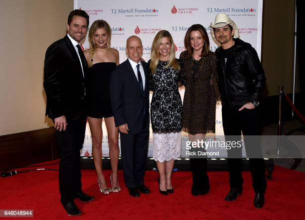 Charles Esten Kelsea Ballerini Scott and Tracie Hamilton Kimberly Williams Paisley and Brad Paisley attend the TJ Martell Foundation 9th Annual...