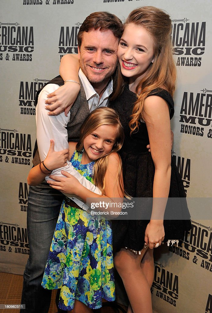 Charles Esten, Maisy Stella and Lennon Stella attend the 12th Annual Americana Music Honors And Awards Ceremony Presented By Nissan on September 18, 2013 in Nashville, Tennessee.