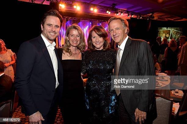 Charles Esten Patty Hanson Crissy Haslam and Tennessee Governor Bill Haslam attend the TJ Martell Foundation's 7th Annual Nashville Honors Gala at...
