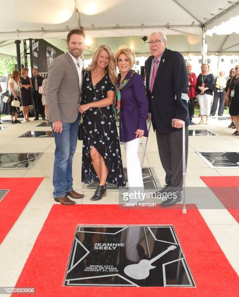 Charles Esten Patty Hanson Jeannie Seely and Gene Ward attend the 2018 Music City Walk Induction Ceremony at Walk of Fame Park on August 21 2018 in...
