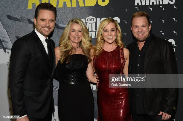Charles Esten Patty Hanson Kellie Pickler and Kyle Jacobs attend the 2017 CMT Music awards at the Music City Center on June 7 2017 in Nashville...