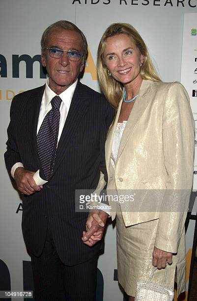 Charles Evans and Bonnie Pfeiffer during amfAR's 10th Annual Boathouse Rock Dance Party and Celebrity Kiss Auction at Loeb Boathouse in Central Park...