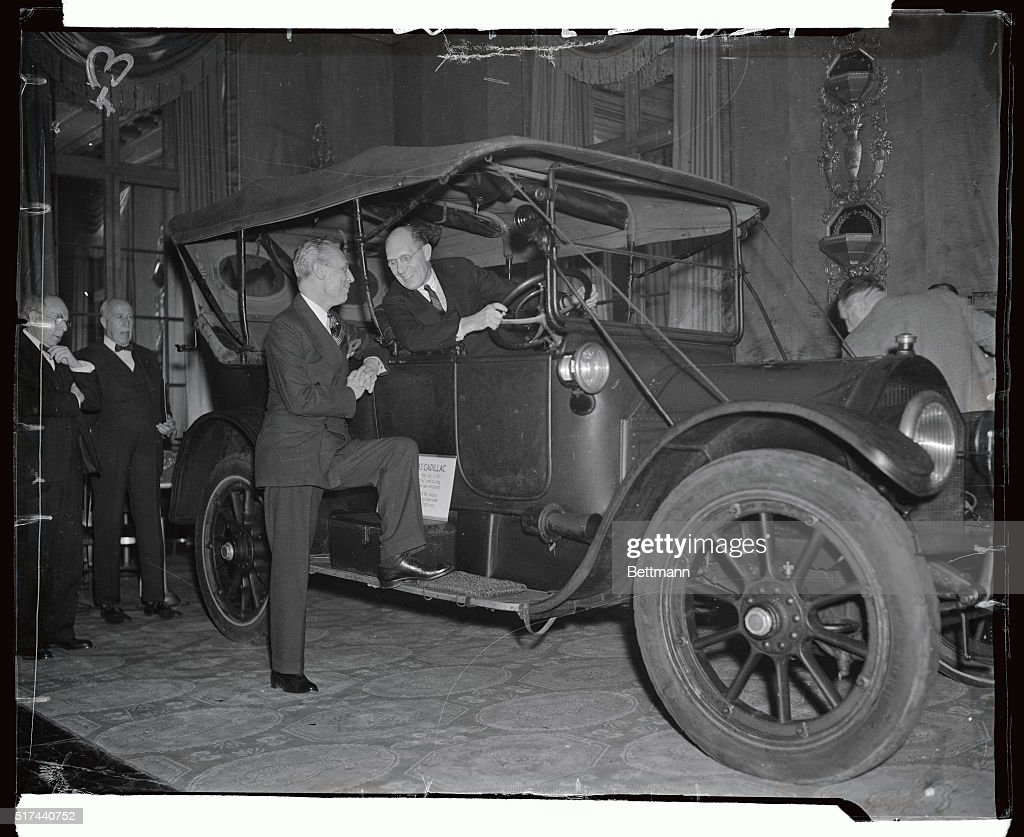 Alfred Sloan Talking to Kettering in Automobile Pictures | Getty Images