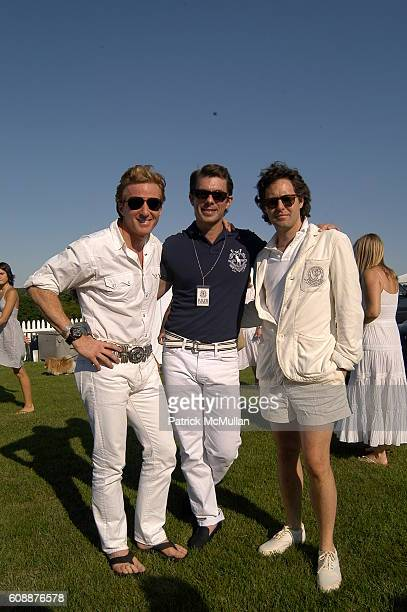 Charles Fagan Talbot Logan And David Lauren Attend Ralph Laurens Black Watch Team At The Mercedesbenz