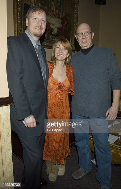 Charles Fazzino Jane Seymour and Dann Florek during Celebrity Mask Exhibition at The Cutting Room in New York City NY United States