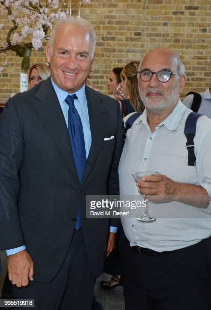 Charles Finch and Alan Yentob attend the launch party for the inaugural Issue of Drugstore Culture at Chucs Serpentine on July 10 2018 in London...