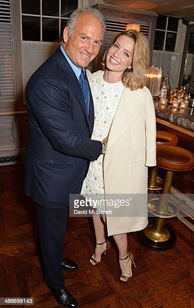 Charles Finch and Annabelle Wallis attend an exclusive dinner hosted by Charles Finch Mulberry and PORTER Magazine for Julian Schnabel at 34...