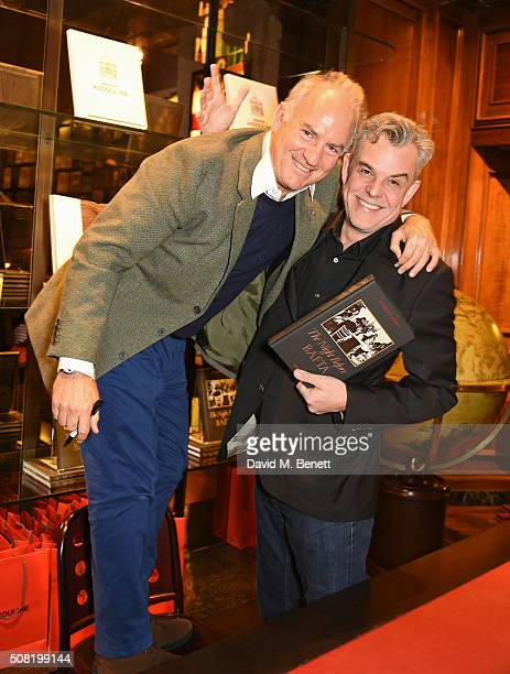 Charles Finch and Danny Huston attend the launch of The Night Before BAFTA by Charles Finch at Maison Assouline on February 3 2016 in London England