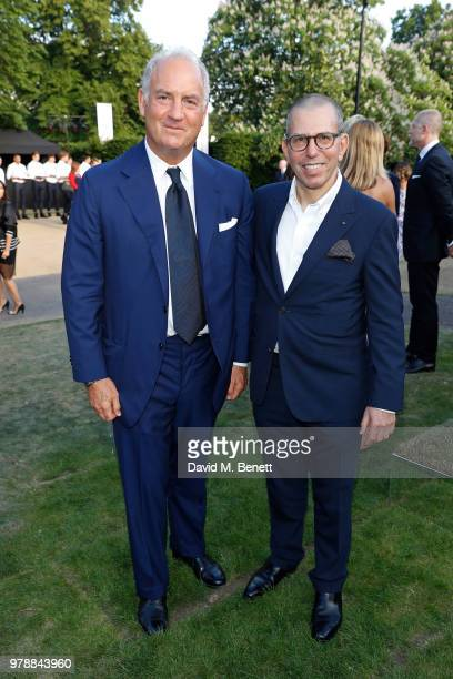 Charles Finch and Jonathan Newhouse attend the annual summer party in partnership with Chanel at The Serpentine Pavilion on June 19 2018 in London...