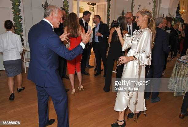 Charles Finch and Laura Bailey attend The 9th Annual Filmmakers Dinner hosted by Charles Finch and JaegerLeCoultre at Hotel du CapEdenRoc on May 19...
