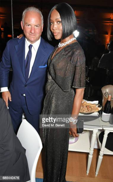 Charles Finch and Naomi Campbell attend The 9th Annual Filmmakers Dinner hosted by Charles Finch and JaegerLeCoultre at Hotel du CapEdenRoc on May 19...