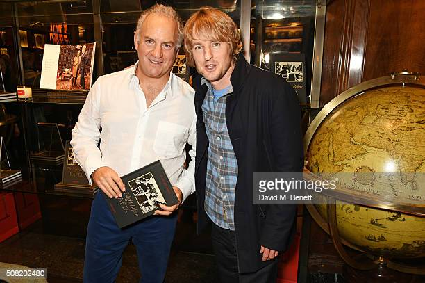Charles Finch and Owen Wilson attend the launch of 'The Night Before BAFTA' by Charles Finch at Maison Assouline on February 3 2016 in London England
