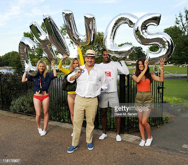 Charles Finch attends Chucs Dive Mountain Shop Swim Party in aid of charity water at The Serpentine on July 4 2011 in London England