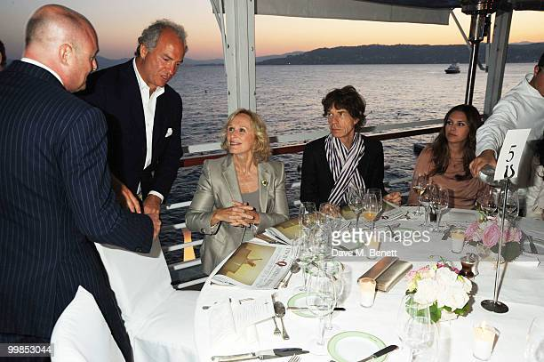 Charles Finch Glen Close Mick Jagger and Dasha Zhukova attends Finch's Quarterly Cannes Dinner 2010 at the Hotel du Cap as part of the 63rd Cannes...