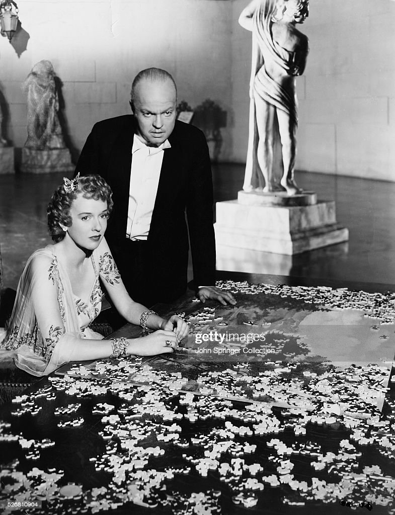 Charles Foster Kane stands over his second wife Susan Alexander Kane...  News Photo - Getty Images