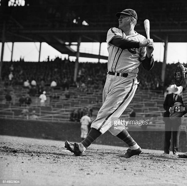 Charles Gabby Hartnett manager and catcher of the Chicago Cubs who is eligible t play in the World Series in the event the Cubs win the National...